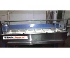 Vitrina calda inox 6 GN1/1 de banc