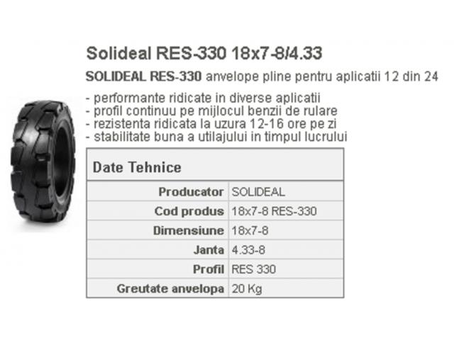 Anvelopa plina stivuitor RES-330 18x7-8/4.33 Quick