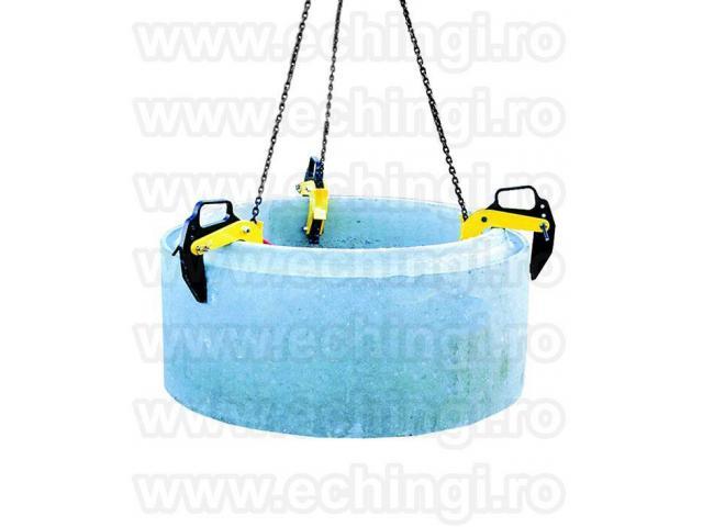 Clesti de ridicat, dispozitive de ridicare tuburi beton