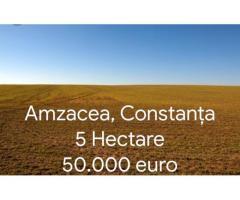 Vand teren agricol 5 hectare Amzacea Constanța