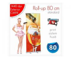 Roll-up 80 x 200 cm - 110 lei (print+sistem+husă)