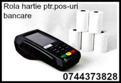 Rola hartie ptr.pos-uri bancare (cititoare de carduri) folosite ptr. realiz