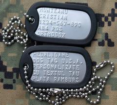 Placute de identificare armata S.U.A. - DOG TAG